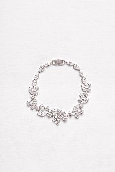 Scattered Cubic Zirconia Petals Bracelet BB00188