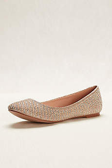 Blossom Beige Ballet Flats (Pearl and Crystal Ballet Flat)