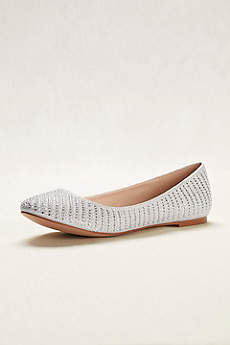White Ballet Flats (Crystal and Pearl Ballet Flats)