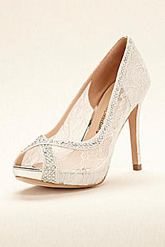 Lace Peep Toe High Heels BBARBARA19