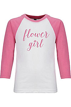 Sporty Flower Girl T-Shirt BBTEE-FG