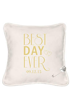Personalized Best Day Ever Ring Bearer Pillow