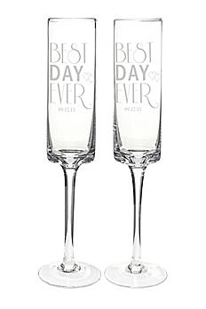 Personalized Best Day Ever Contemporary Flutes BDE-3668