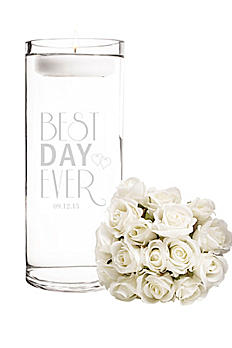 Personalized Best Day Ever Floating Unity Candle BDE-3903