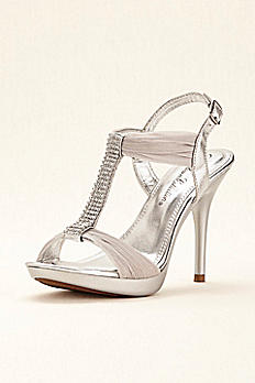 Crystal T-Strap High Heel Sandal by Blossom BELIZE12