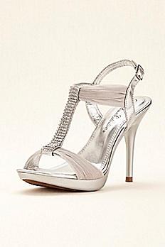 Crystal T-Strap High Heel Sandal by Blossom BELIZE12