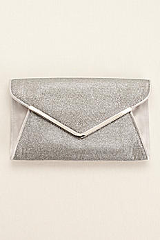 Satin Glitter Envelope Clutch by Menbur BELLS