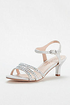 Strappy Low Heel Sandal with Crystals by Blossom BERK170
