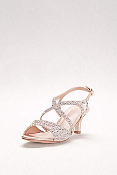 Strappy Heels with Iridescent Gems BERK183