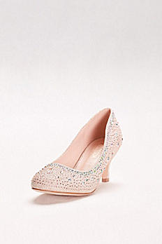 Low-Heeled Pumps with Crystal Embellishment BERTHA-11