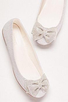 Glitter Bow Ballet Flats BGIGI1X