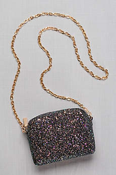 Iridescent Glitter Chain Strap Mini-Bag