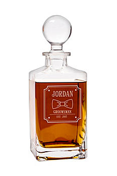Personalized Bow Tie Square Whiskey Decanter BO-1295