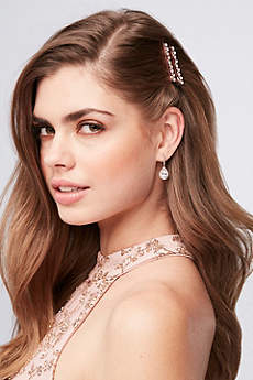 Rose Gold Crystal Bobby Pins