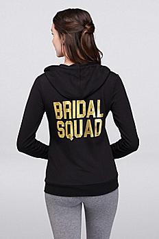 Bridal Squad Zip-Up Hoodie C063817022