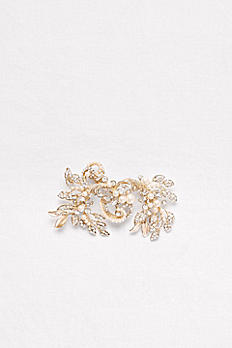 Pearl and Crystal Scroll Hair Clip C400