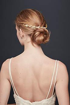 Pave Crystal Leaf Flexible Hair Vine
