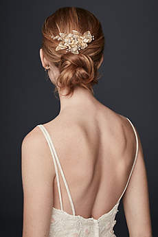 Organza and Crystal Floral Hair Clip