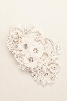 Galina Swirl and Pearl Coordinated Flower Clip C9047