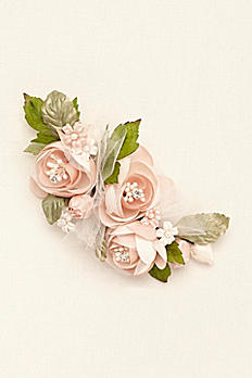 Rose and Tulle Flower Clip C9097