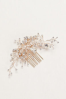 Crystal and Rhinestone Hand Wired Comb C9108