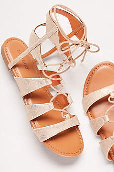 Bamboo Yellow Sandals (Lace-Up Gladiator Sandals)