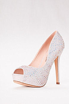 High Heel Crystal-Embellished Platform CARINA-70