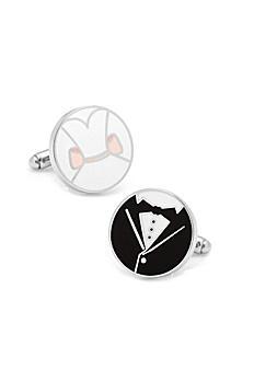 Bride and Groom Wedding Cufflinks CC-BRGR-SL