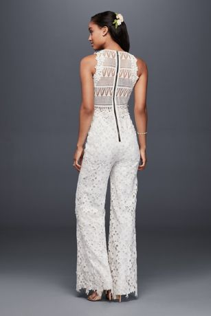 Guipure Lace And Crochet Jumpsuit David S Bridal