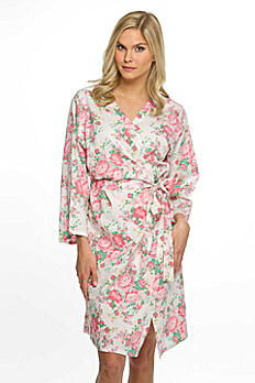 Personalized Cotton Floral Robe CFROB