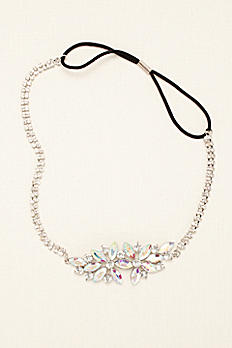 Side Motif Crystal Stretch Headband CH783011