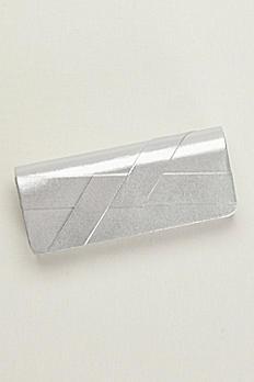 Metallic Crisscross Clutch CL2457