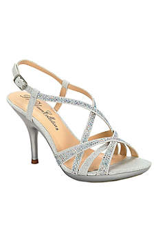 Blossom Beige Peep Toe Shoes (Crystal Embellished Strappy Sandal by Blossom)