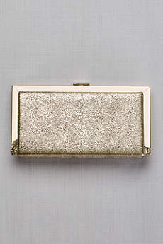 Metallic Fabric Hard-Sided Frame Clutch