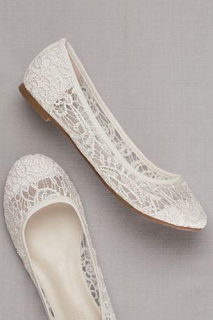 Crochet Ballet Flats David S Bridal