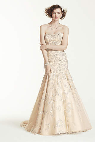 Champagne Colored Wedding Dresses & Gowns | David's Bridal
