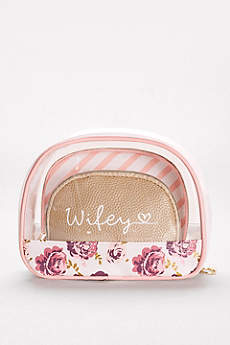 Wifey Cosmetic Bags Set of 3