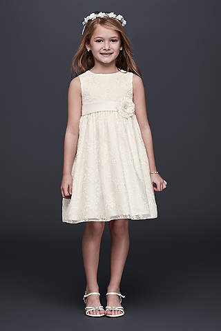 Lace &amp- Vintage Flower Girl Dresses - Davids Bridal