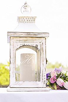 Personalized Rustic Monogram Centerpiece Lantern CP3915