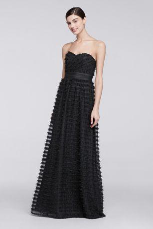 Black Tulle Long Dresses