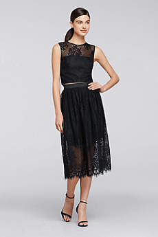 Tea Length Sheath Tank Guest of Wedding Dress - Cheers Cynthia Rowley