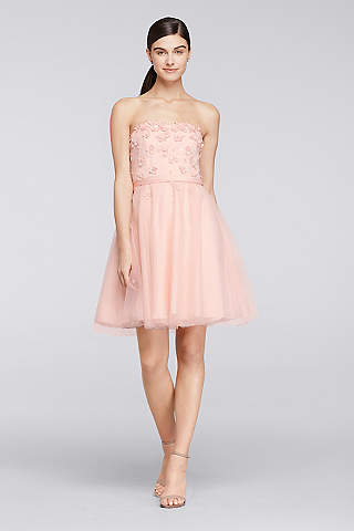 Light Pink Prom Dresses &amp Gowns  David&39s Bridal