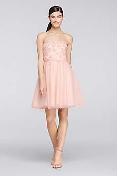 Short A-Line Strapless Graduation Dress - Cheers Cynthia Rowley