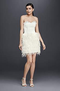 Short Sheath Modern Chic Wedding Dress - Cheers Cynthia Rowley
