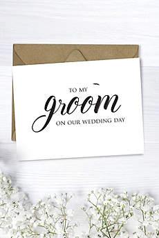 To My Groom Wedding Card