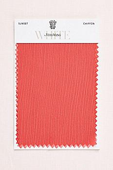 Sunset Crinkle Chiffon Fabric Swatch VWSWATCHSUNSET