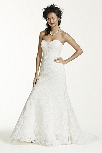 Sweetheart Beaded Lace Trumpet Gown CRL277