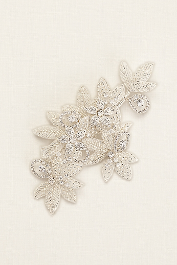 Floral Inspired Rhinestone Hair Clip with Beads CSWG560