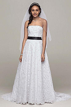 A-line All Over Beaded Corded Lace Wedding Dress CT2406