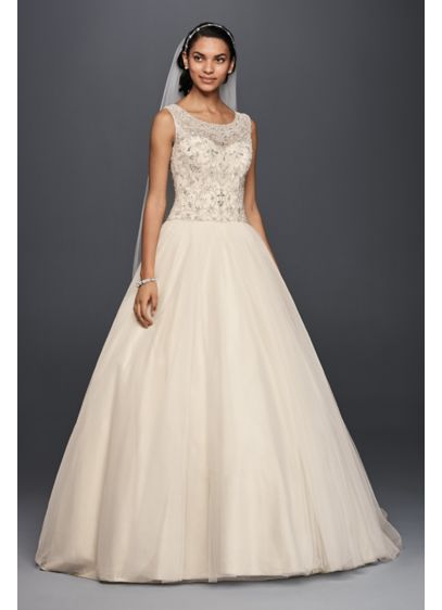 Oleg cassini ball gown wedding dress with beading davids bridal long ballgown formal wedding dress oleg cassini junglespirit Gallery